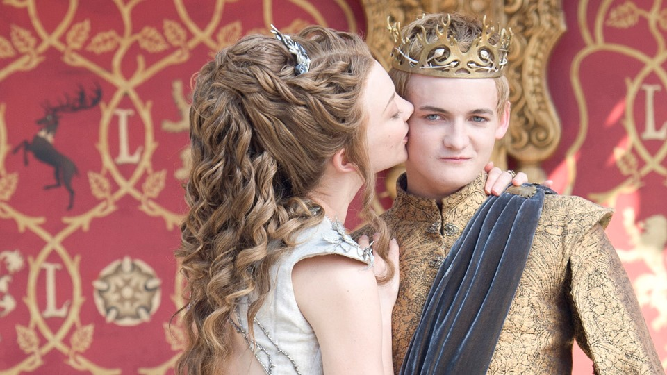 """Natalie Dormer and Jack Gleeson as Margaery Tyrell and King Joffrey Baratheon on """"Game of Thrones."""""""
